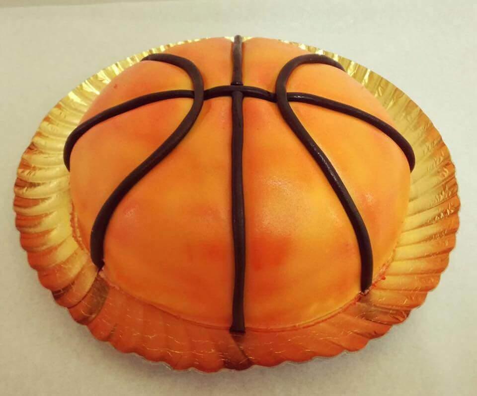 bolo em forma de bola de basquetebol entrega grátis em 24h chefpanda