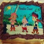 Bolo de aniversário com Jack e os piratas