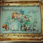 Bolo de aniversário com a Princesa Sofia