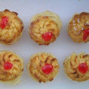 6 Mini Pastéis de Côco