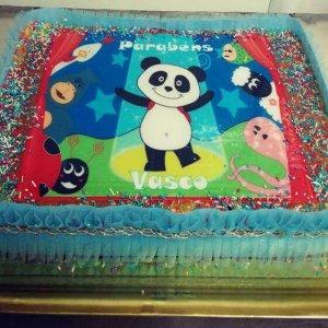 Bolo decorado com tema do panda