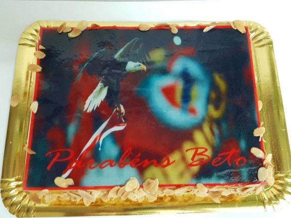 Bolo com Águia do Benfica - vista de cima
