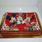 Bolo Com Foto Montagem De Minnie E Mickey Vista De Frente
