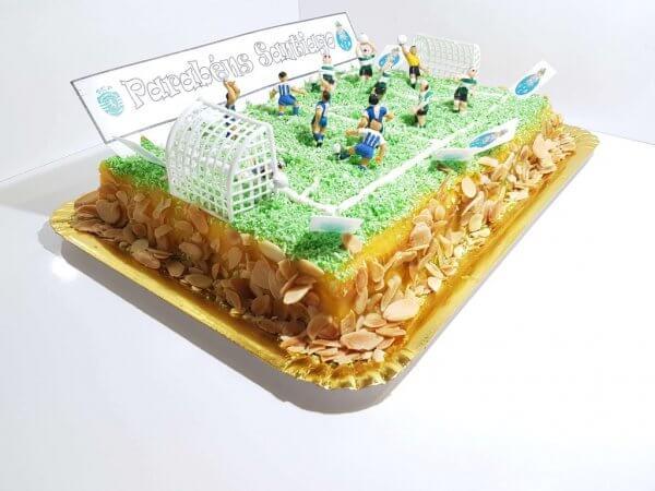 Bolo De Campo Futebol De Scp Vs Fcp Vista Em Perspetiva