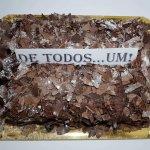 Bolo De Chocolate Cobertura Em Raspas Vista De Cima