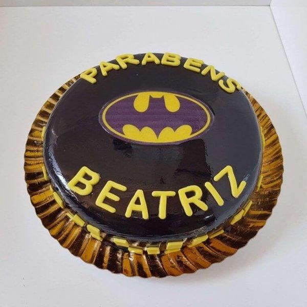 Bolo Do Batman Para Mulher Vista De Frente