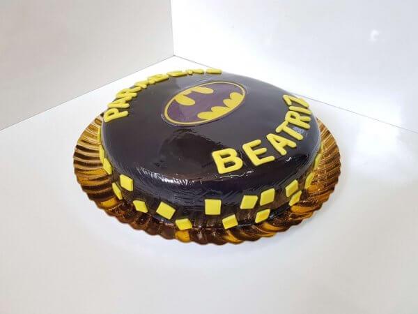 Bolo Do Batman Para Mulher Vista Em Perspetiva
