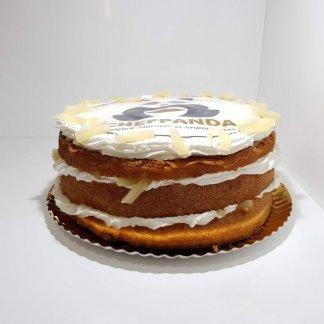 Naked Cake Com Logótipo De Empresa Vista De Frente