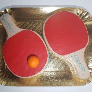 Raquetes De Ping Pong Vista De Cima
