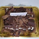 Bolo Coberto Com Raspas De Chocolate Vista De Cima