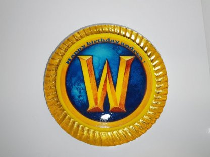Bolo Com Símbolo World Of Warcraft (wow) Vista De Cima
