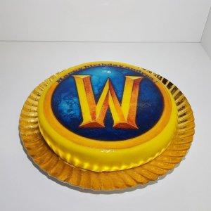 Bolo Com Símbolo World Of Warcraft (wow) Vista De Frente