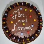 Bolo De Chocolate Com Smarties Chocolate Cake With Smarties Vista De Cima