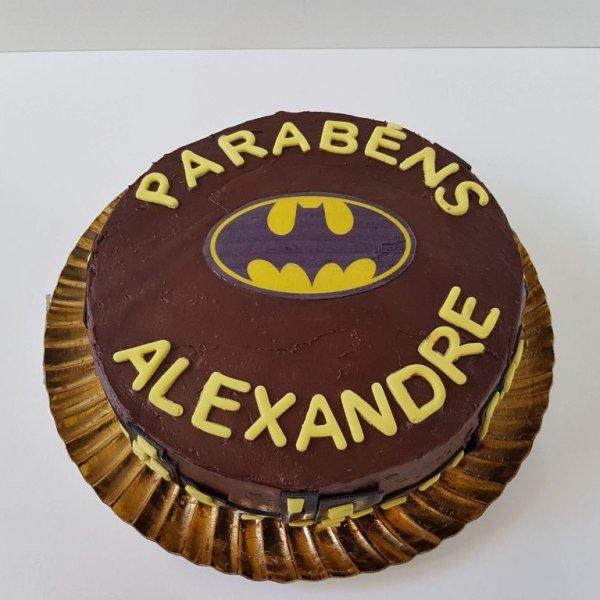 Bolo Do Batman Para Alexandre Vista De Frente