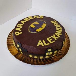 Bolo Do Batman Para Alexandre Vista Em Perspetiva
