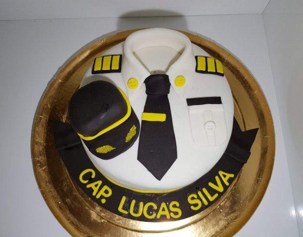 Bolo Para Capitão Marinha Vista De Cima