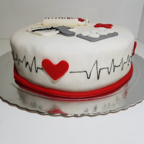 Bolo Para Enfermeiro Enfermagem Foco Batida Cardíaca