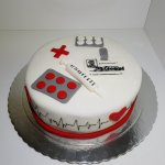 Bolo Para Enfermeiro Enfermagem Vista De Frente