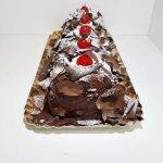 Torta De Chocolate Vista Em Perspetiva