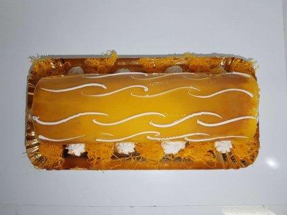 Torta De Laranja Vista De Cima