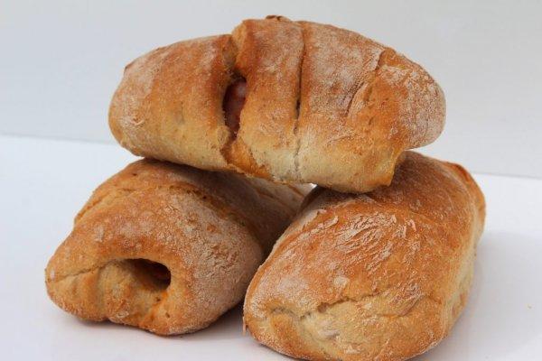 Mini Pão Com Chouriço Vista De Frente Min