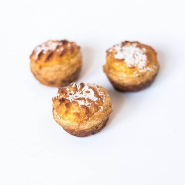 Mini Pastéis De Côco Vista De Cima