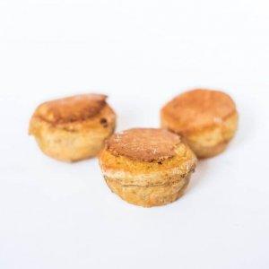 Mini Pastéis De Feijão Vista De Frente