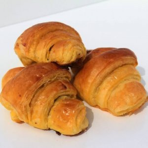 Mini Croissants De Chocolate Vista Em Perspetiva Min