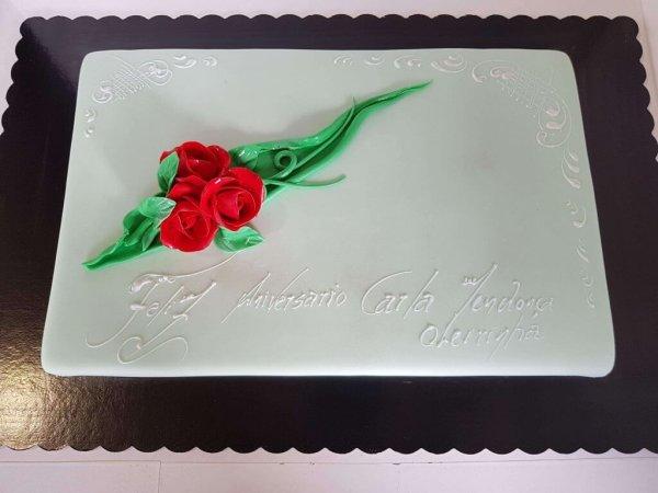 Bolo Bouquet De Flores Vermelhas
