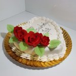 Bolo De Parabéns Mãe Foco Nas Rosas