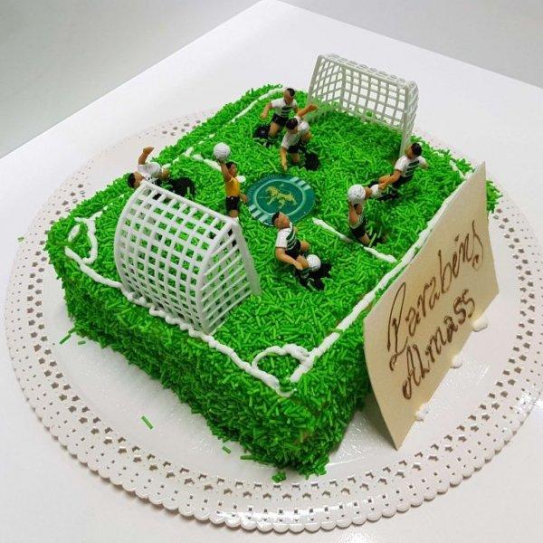 Bolo Campo De Futebol Sporting Com Granulado Verde