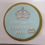 Bolo Keep Calm Azul Marinho Com Alianças
