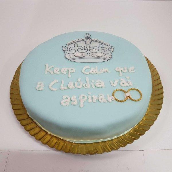 Bolo Keep Calm Azul Marinho