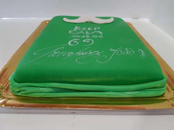 Bolo Keep Calm Verde