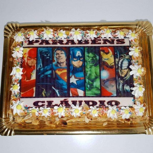 Bolo Super Heróis Da Marvel