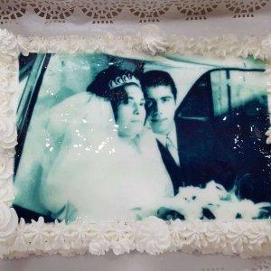 Bolo Com Foto De Casamento