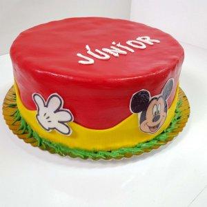 Bolo Do Mickey Com Cobertura De Pasta De Açucar