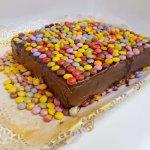 Bolo Retangular Com Chocolate