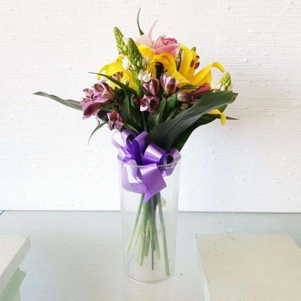 Conjunto Com Coroa Imperial, Beijinhos De Mãe, Astromélia E Orquídea
