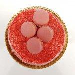 Naked Cake Cor De Rosa Com Macarrons