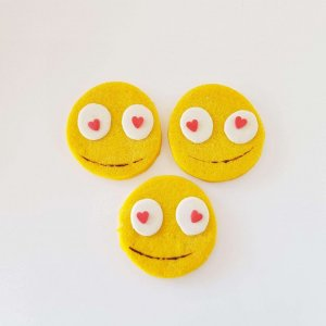 Bolachas Emoji Apaixonado