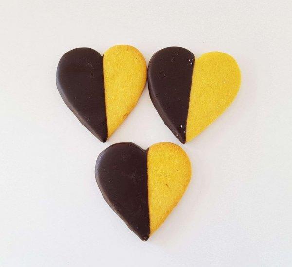 Bolachas De Chocolate Em Forma De Coração