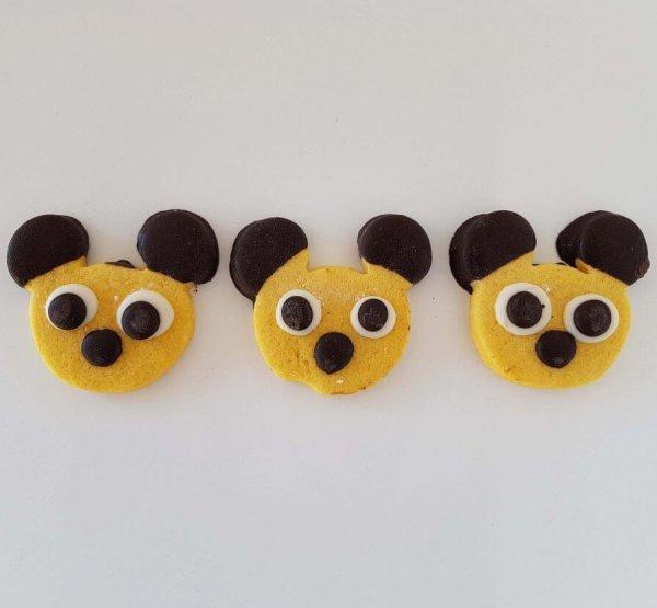 Bolachas De Chocolate Em Forma Do Mickey