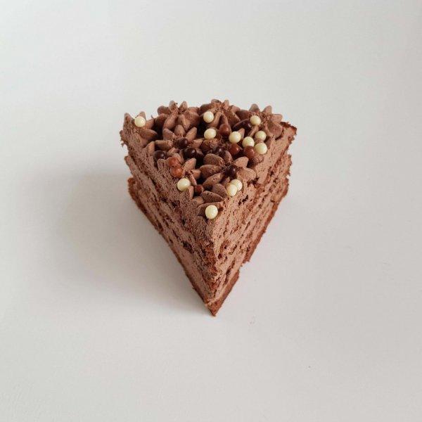 Fatia Naked Cake Chocolate