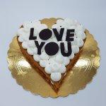 Bolo Em Forma De Coração Love You