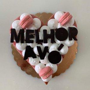 Naked Cake De Coração Personalizada