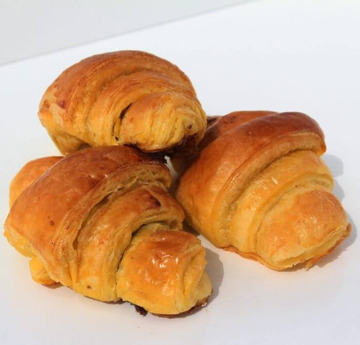Mini Croissants De Chocolate Vista Em Perspetiva Min.jpg
