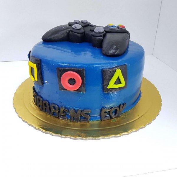 Bolo Azul Com Comando Playstation