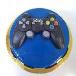 Bolo Azul Com Comando Playstation Lisboa