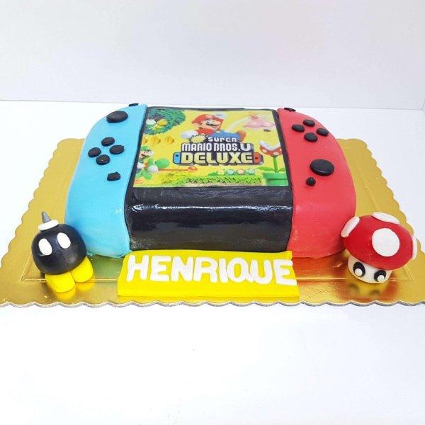 Bolo Da Nintendo Switch Com Jogo Super Mario Cake Design